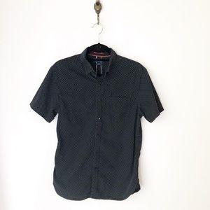 Denim & Flower Black Polka Dot Button Down Shirt